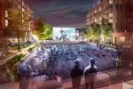 King St Open air cinema in public square dec 11