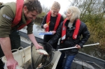 Prof Susan Jobling with Fisheries Officer Adam Hilliard and Brunel PhD student Liz Nicol 2