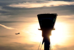 heathrow control tower sunset