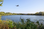 heathrow plane over lake